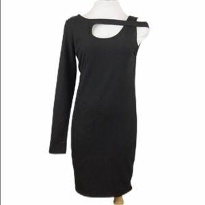 MINKPINK Black Asymmetrical Cocktail Dress